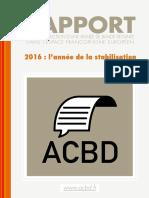 Rapport ACBD 2016