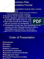 Business Plan Presentation Format
