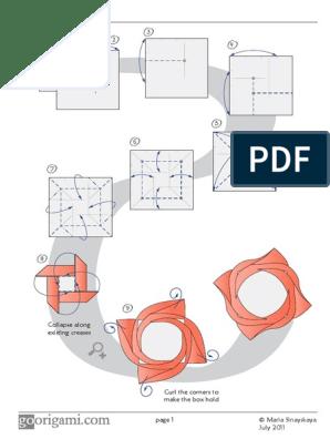 Origami Star Diagram - Robin Star | 396x298