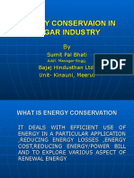 Energy Conservation in Sugar Industry1