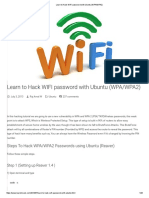 Learn to Hack WIFI Password With Ubuntu (WPA_WPA2)