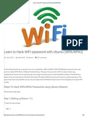 Learn to Hack WIFI Password With Ubuntu (WPA_WPA2) | Wi Fi