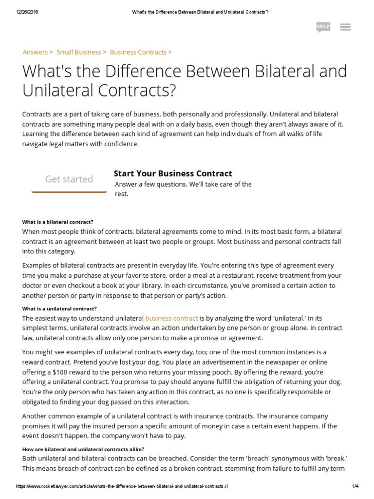Difference between a unilateral contract a bilateral contract difference between a unilateral contract a bilateral contract platinumwayz