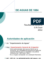 Copia de Ley de Aguas de 1884