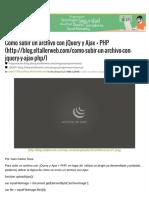 Cómo subir un archivo con jQuery y Ajax + PHP  Blog - El TallerWeb