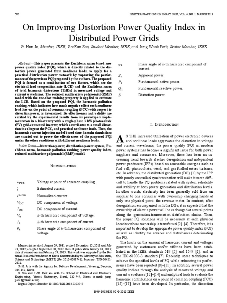 On Improving Distortion Power Quality Index in.pdf | Power ...