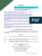 Taxas Do Estado Da Bahia - Regulamento