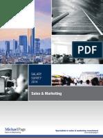 Salary survey Sales&Marketing