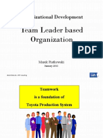 Team Leader Based Organization
