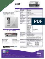 BenQ HT1085ST Spec Sheet Dec 2014
