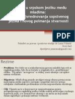 Engleski u Srpskom Jeziku Među Mladima