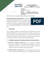 DEMANDA CIVIL - ejecucion de obligacion de dar suma de dinero.docx