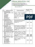 Price List ManiDharma Chennai