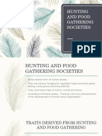 Hunting and Food Gathering Societies