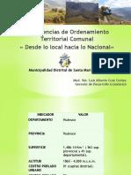 Avances en OT comunal - Municipalidad Distrital de Santa María Del Valle