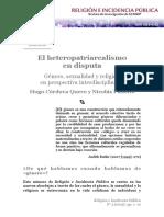 El Heteropatriarcalismo en Disputa Gener