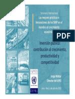 1 Inversion Publica y Su Contribucion Al Crecimiento Economico Jorge Mattar