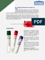 Características de Los Tubos de Extracción Sanguínea