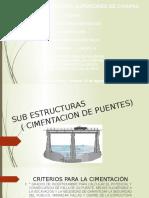 Sub Estructuras ( Cimentacion de Puentes)