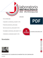 PROCEDIMIENTO de CALIBRACION de MANÓMETROS POR COMPARACIÓN ,Laboratorio, Servicio de Medicion Medellin, Calibración de Equipos
