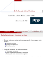 Optimal Defaults and Active Decisions