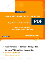 Germano Dam Closure Plan