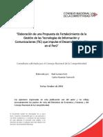 Propuesta de Fortalecimiento de La GestiOn de Las TIC en PerU