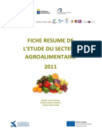 Fiche Resumee Agroalimentaire