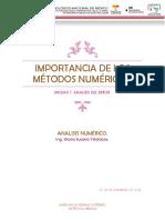 importancia de los métodos numéricos.