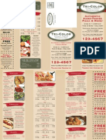 Restaurant Flyer Menu Design Sample by Taradel.com