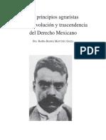 Los principios agrarios de la Revolución y transcendencia del Derecho Mexicano