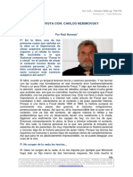 Naranjo, R. (2009) Entrevista a Carlos Nemirovsky