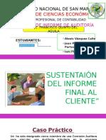 Sustentaión Del Informe Final Al Cliente