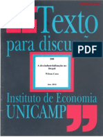 CANO, Wilson - A Desindustrializacao No Brasil