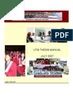 Thesis Manual Utm