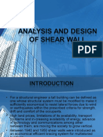 Analysis and Design of Shear Wall