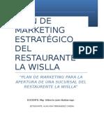 Plan de Marketing Estrategico La Wislla