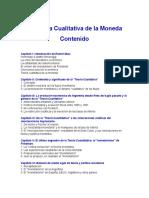 La Teoría Cualitativa de La Moneda