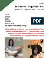 Linda Ellis Copyright - Paints Self as Victim of Cyber Bullying