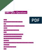 1001 Quiz Questions