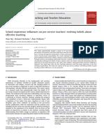 School Experience Influences on Pre-service Teachers' Evolving