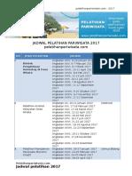 Jadwal Pelatihan Pariwisata 2017
