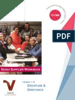 1.10 Discipline Grievance Sedex Supplier Workbook