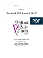 National WIE Summit'10 Report