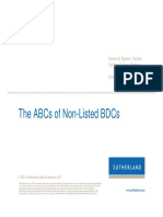 ABCs of Non-Listed BDC