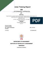 Performance Appraisal in AIRTEL