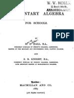 HallAndKnight-ElementaryAlgebra