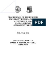 Proceedings of BUU Conference 2012