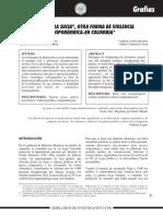''LaGuerra Sucia''... Otra Forma de Violencia Hipodermica en Colombia