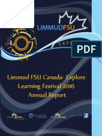 Limmud FSU Canada- Explore Learning Festival 2016 Annual Report